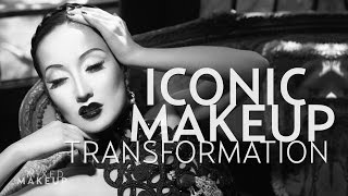 Old Hollywood Black and White Makeup Tutorial of Merle Oberon | Troy Jensen Iconic Makeover