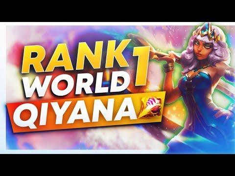 RANK 1 PLAYS QIYANA JUNGLE (ONE SHOT AD ASSASSIN)?! | League of Legends