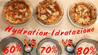 PIZZA DOUGH 3  Best Hydration Differences 80% vs 70% vs 60%