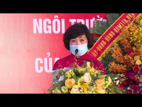 Bài phát biểu của Nhà giáo Lê Thị Anh Thư - Bí thư Chi bộ, Hiệu trưởng trường Tiểu học Phan Chu Trinh trong buổi Lễ gắn biển công trình cấp Thành phố