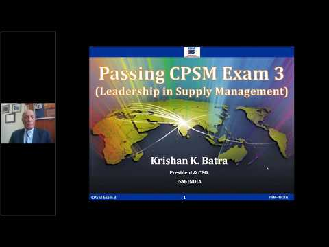 CPSM Exam 3 (Based on old Syllabus) - YouTube