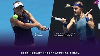 Sofia Kenin vs. Anna Karolina Schmiedlova | 2019 Hobart International Final | WTA Highlights