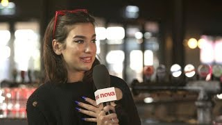 DUA LIPA TALKS NEW CALVIN TRACK