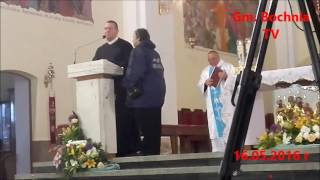 RADIO MARYJA i TV TRWAM w Okulicach dj. Tarnowska . Incydent tuż przed mszą św . 16.05.2016 r.