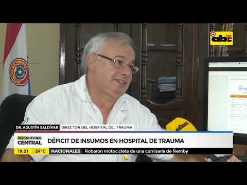 Déficit de insumos en hospital de trauma