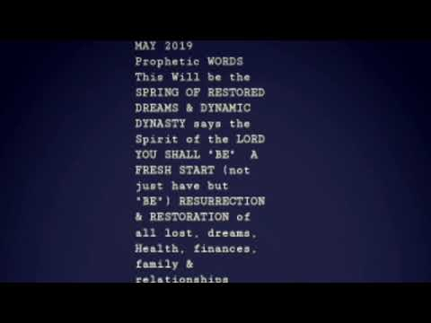 Prophetic Word May 2019: Wealth Transfer is coming - Kay Nash