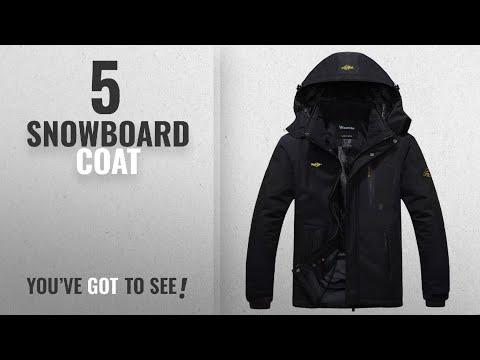Top 10 Snowboard Coat [2018]: Wantdo Men's Waterproof Mountain Jacket Fleece Windproof Ski Jacket