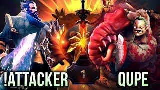 !Attacker vs Qupe - Kunkka Spammer vs Pudge Spammer - FIGHT FOR TOP 1 IMMORTAL RANK - Dota 2