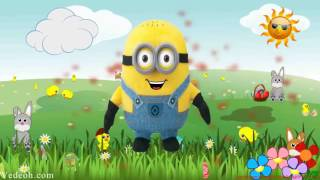 Happy Birthday Video E-Cards, Happy Birthday Song Minions Song Children Songs Nursery Rhymes for Kids baby cards