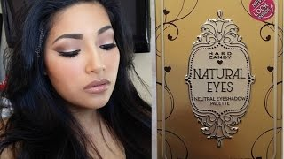 NEW Hard Candy NATURAL EYES Neutral Eyeshadow Palette FIRST IMPRESSIONS + Makeup Tutorial + Swatches