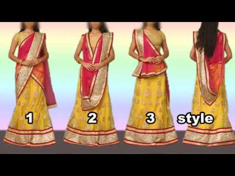 How To Wear Lehenga With Different Style Of Dupatta Draping Mp3