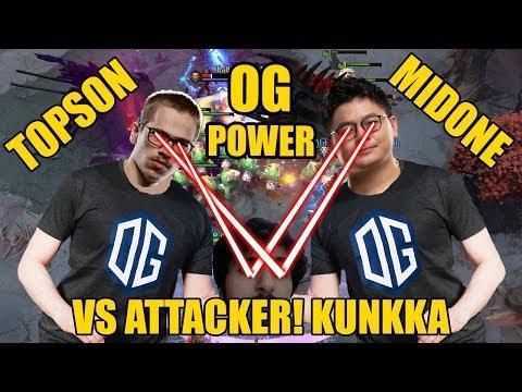 MIDONE Nature Prophet Playing With TOPSON RIKI VS BEST KUNKKA ATTACKER! Epic Gameplay 7.24 Dota 2