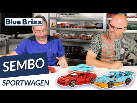 Sportwagen, Hellblau/Orange