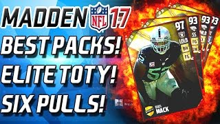 Madden 17 Ultimate Team - BEST PACKS! SIX TEAM OF THE YEAR PULLS! ELITE TOTY BUNDLE!