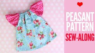 Peasant Dress Tutorial | ANNA Dress Pattern Sew Along
