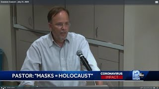 Pastor compares face mask mandate to Holocaust
