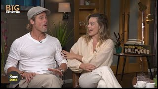 Brad Pitt & Margot Robbie on eating in movies, Tarantino's Star Trek & they get a major surprise!