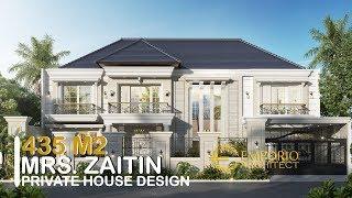 Video Desain Rumah Classic 2 Lantai Ibu Zaitin di  Kalimantan Selatan