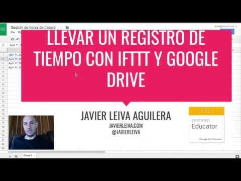 Llevar un registro de tiempo con IFTTT y Google Drive