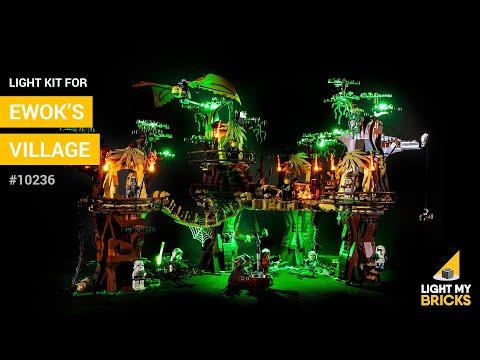 Light my bricks Kit de lumière pour LEGO 10236 Star Wars - Le village Ewok