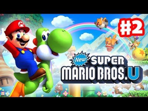 New Super Mario Bros  U - Walkthrough Part 1 - Acorn Plains