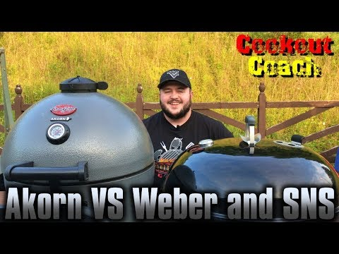 Weber 26 inch Kettle with Slow n Sear VS Char Griller Akorn