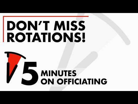 Don't miss rotations as Trail. Got 5 Minutes? Five Minutes on Officiating #03