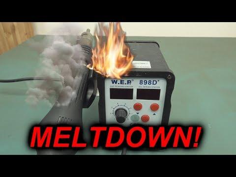 EEVblog #1171 - Yihau WEP SMD Rework Station Meltdown!
