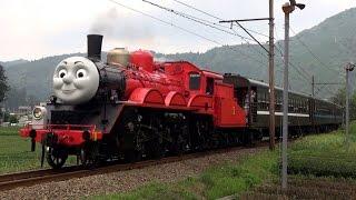 大井川鉄道 きかんしゃジェームス号 運行初日 【James the Red Engine Steam Train】
