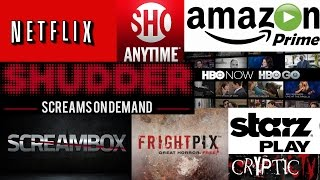 Which Streaming Service is the BEST for HORROR | Netflix Amazon Shudder Screambox + FREE MOVIES