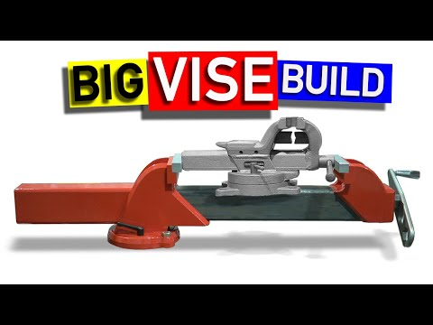 "Making A Big 16"" Vise from Tube and Plate."