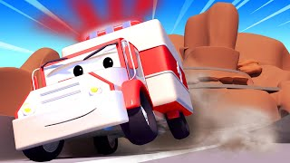 Tom the Tow Truck -  Clown around cliffs  - Car City ! Cars and Trucks Cartoon for kids