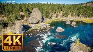 4K Nature Scene - River Flowing with Nature Sounds - Riverside State Park - Trailer