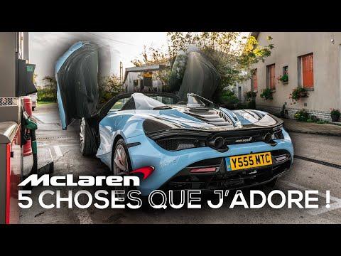 5 CHOSES QUE J'ADORE avec la McLaren 720s Spider!