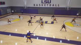 LSU men's basketball opens up the season with its first practice