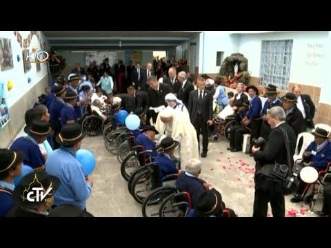 Le Pape visite une maison de retraite des soeurs missionnaires de la Charité