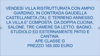 contrada gaudella castellaneta (TA)
