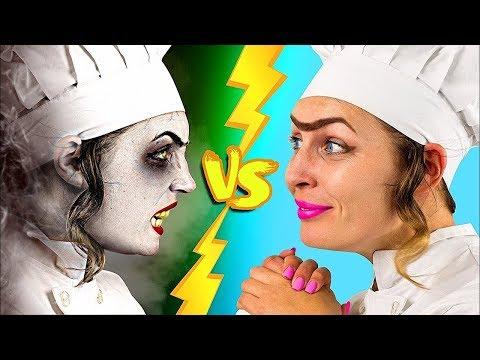 Вкусняшки на Хэллоуин против обычной еды Челлендж – 8 идей