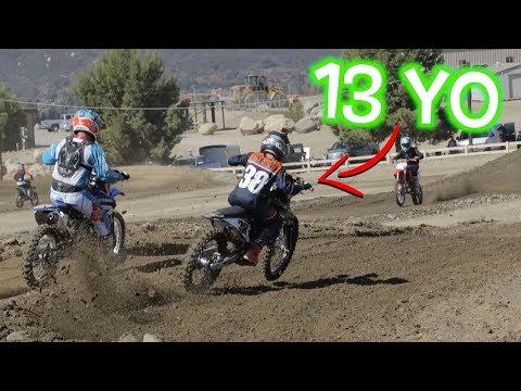 13 YEAR OLD KID RIDES 450 DIRT BIKE!!! Dangerboy Deegan