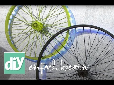 Aus alt mach neu - Leuchtobjekt mit Fahrradfelge | DIY einfach kreativ