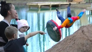 HUGE Pond Jump FAIL!!