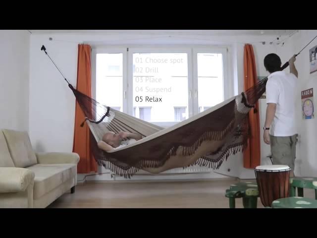 Видео Крепления La Siesta Home Rope для подвесных гамаков black