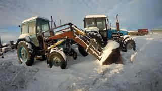 (Сезон 2019) МТЗ 92П разгрузка удобрений! / ( Season 2019) МТZ 92P  Fertilizer unloading!