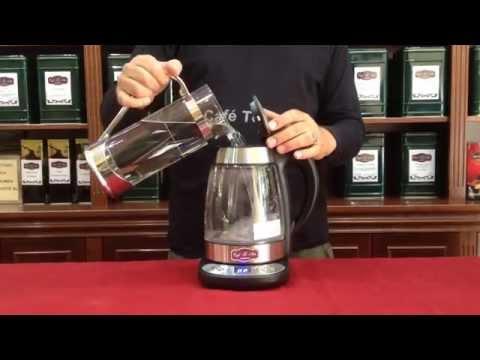 Hervidor eléctrico de cristal con regulación de temperatura