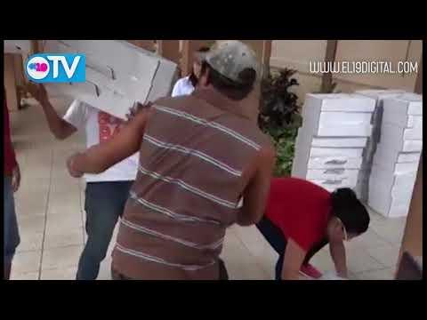 Llegada de material electoral a Matagalpa