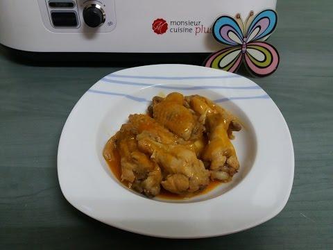 Alitas de pollo barbacoa - Recetas fáciles Monsieur Cuisine plus