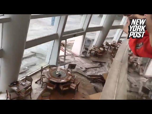 الفيضانات تجتاح فندقا فخما في الصين