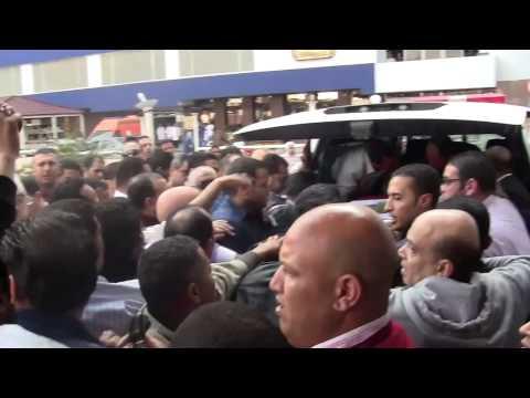خروج جثمان العميد المرجاوي شهيد تفجير جامعة القاهرة من مستشفى الشرطة
