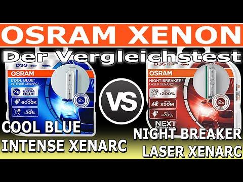 Osram Xenon COOL BLUE INTENSE Xenarc vs NIGHT BREAKER LASER Xenarc | Der Vergleich