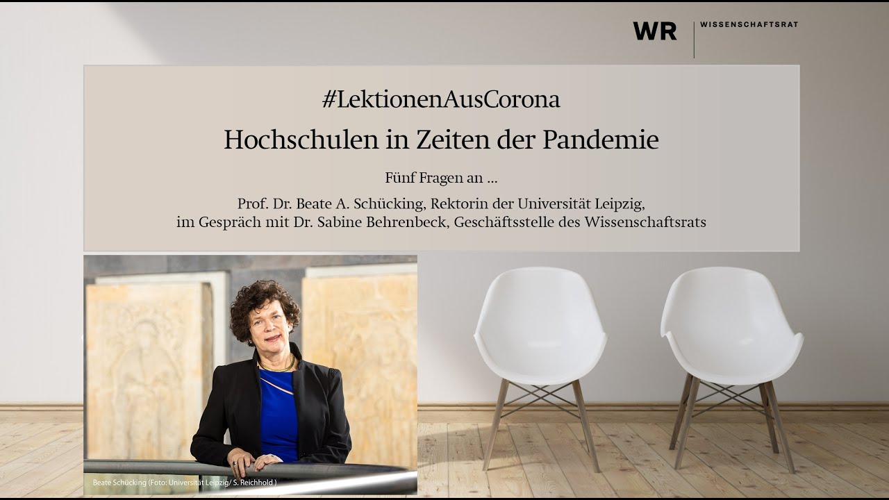 #LektionenAusCorona: Interview with Professor Beate A. Schücking (Leipzig University)